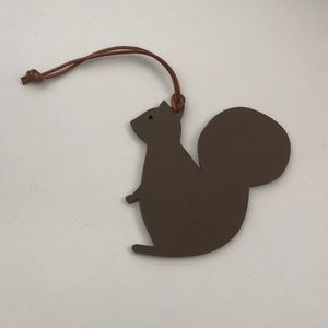 Hermes Petit H Leather Squirrel Charm